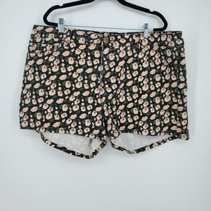 Forever 21 Floral Casual Shorts Plus Sz 20